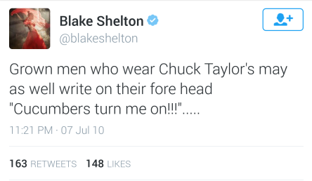 Stupid Blake Tweet #1